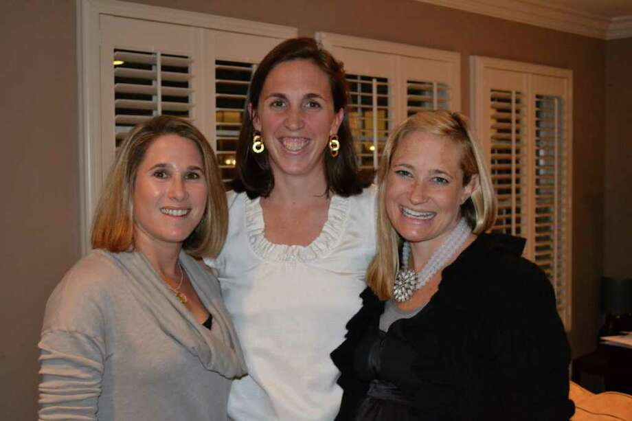 From left, Opus for Person-to-Person Crystal Ball Co-Chairmen Jen Forlizzi, Betsy Hendrickson and Kristin Levinson. Photo: Contributed Photo