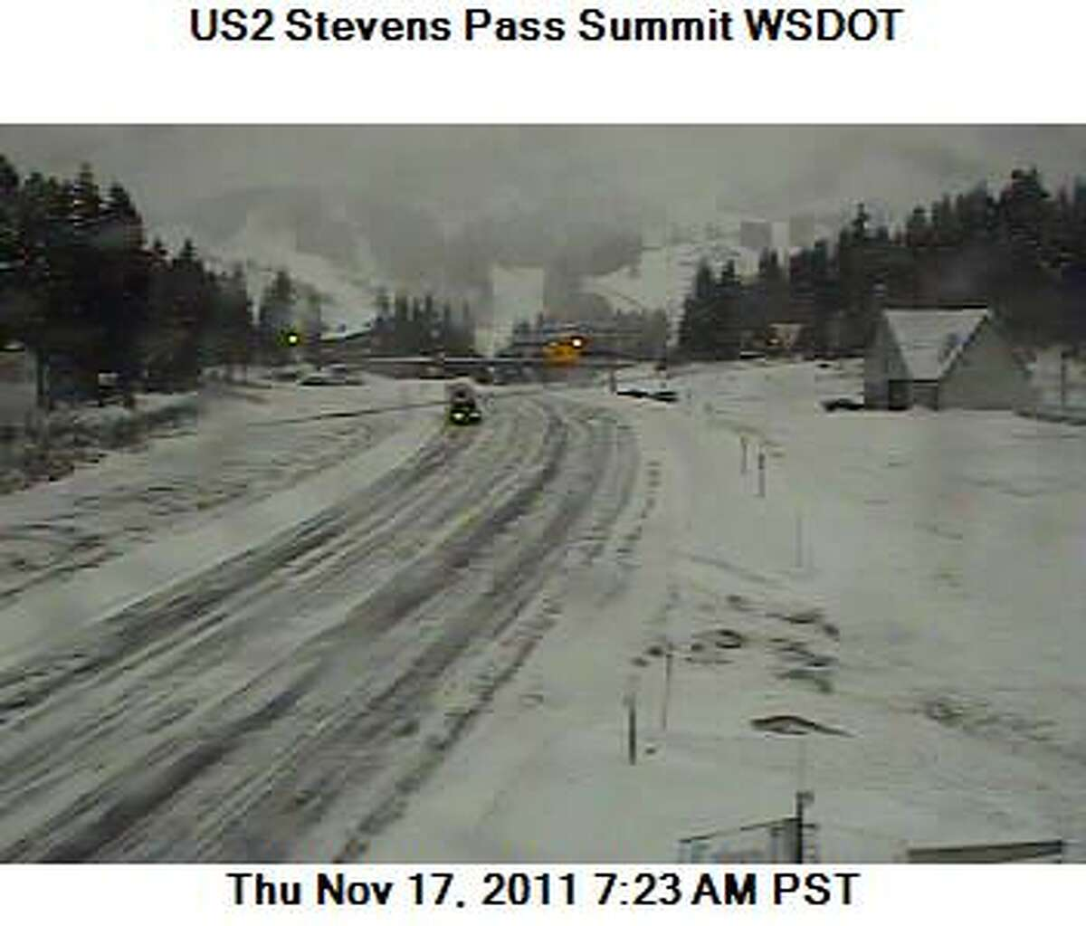Stevens Pass: Carry chains over the next few days. Photo from the Washington Department of Transportation.