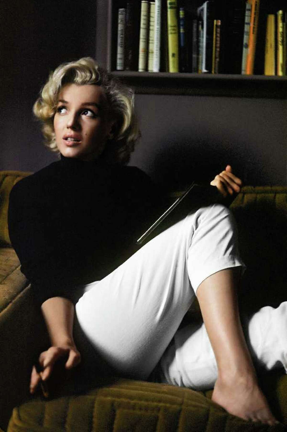Marilyn Monroe relaxes at home in Hollywood in a 1953 portrait by Alfred Eisenstaedt, one of the magazine's four original staff photographers..