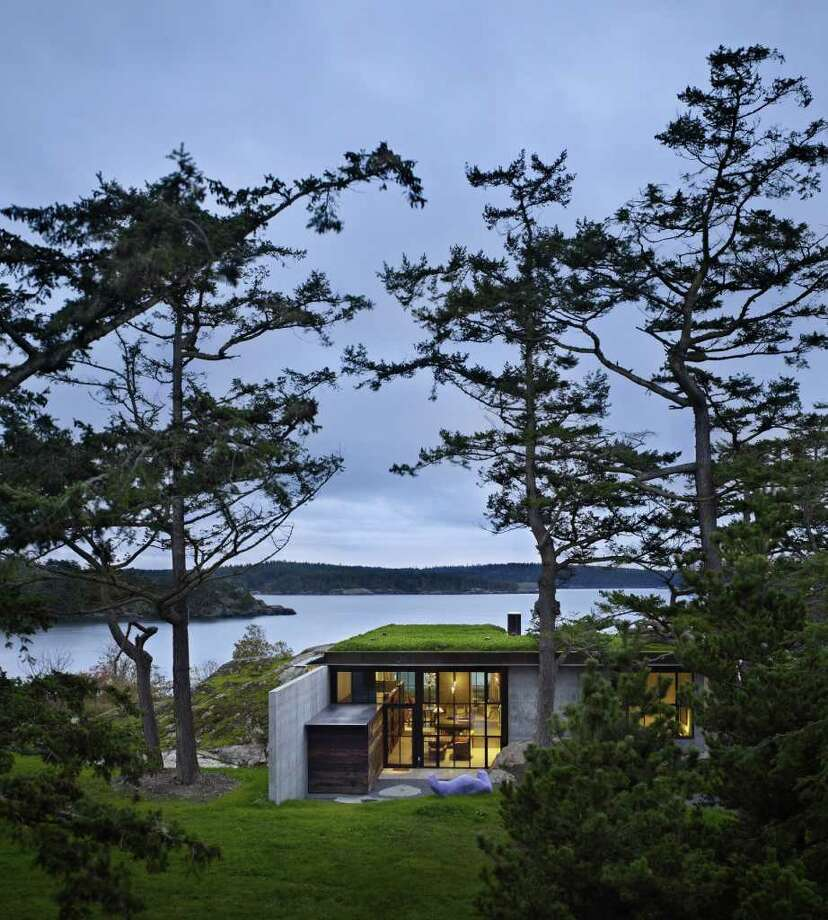 """Architect Tom Kundig tries to fit the houses he designs to fit naturally into the landscape such as """"The Pierre"""" on Lopez Island in Washington. Photo: Benjamin Benschneider, MCT / Seattle Times"""