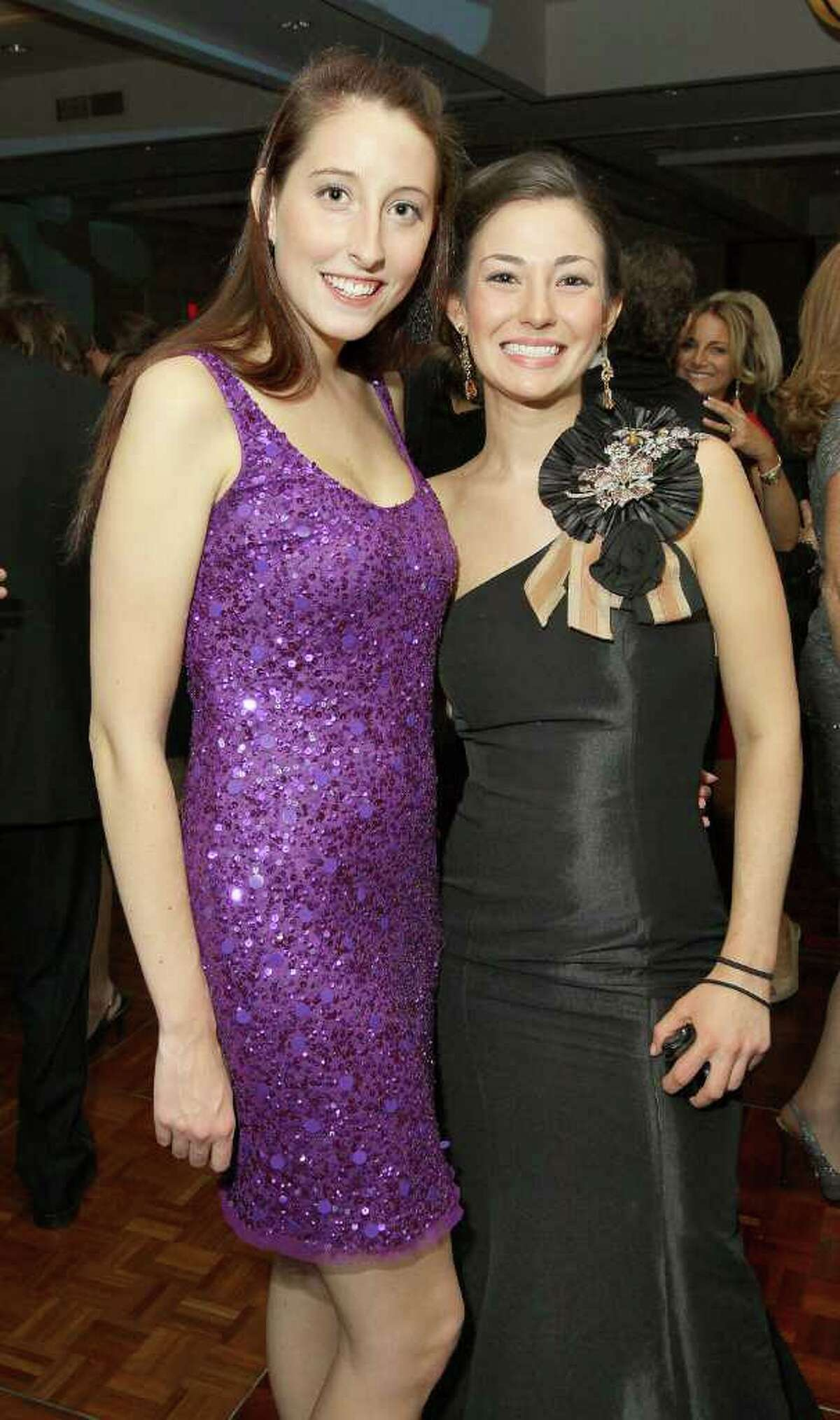 Albany, NY - November 12, 2011 - (Photo by Joe Putrock/Special to the Times Union) - Amanda Smith(left) and Katelyn Swider(right) during the 15th Annual Celestial Ball to benefit the Northeastern New York Chapter of the Juvenile Diabetes Research Foundation.