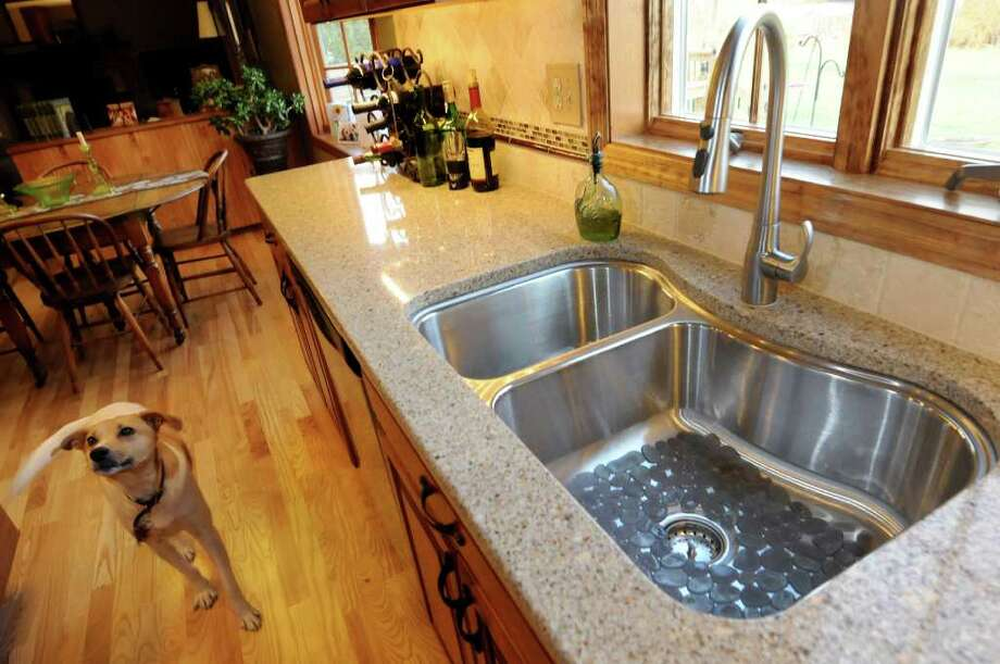 Shaped sink at the home of Christine VanUllen on Friday, Nov. 11, 2011, in Cohoes, N.Y. (Cindy Schultz / Times Union) Photo: Cindy Schultz / 00015364A
