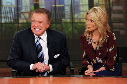 "NEW YORK, NY - NOVEMBER 17:  Regis Philbin and Kelly Ripa attend a press conference on Regis's departure from ""LIVE! with Regis and Kelly"" at ABC Studios on November 17, 2011 in New York City.  (Photo by Rob Kim/Getty Images) Photo: Rob Kim, Getty / 2011 Getty Images"
