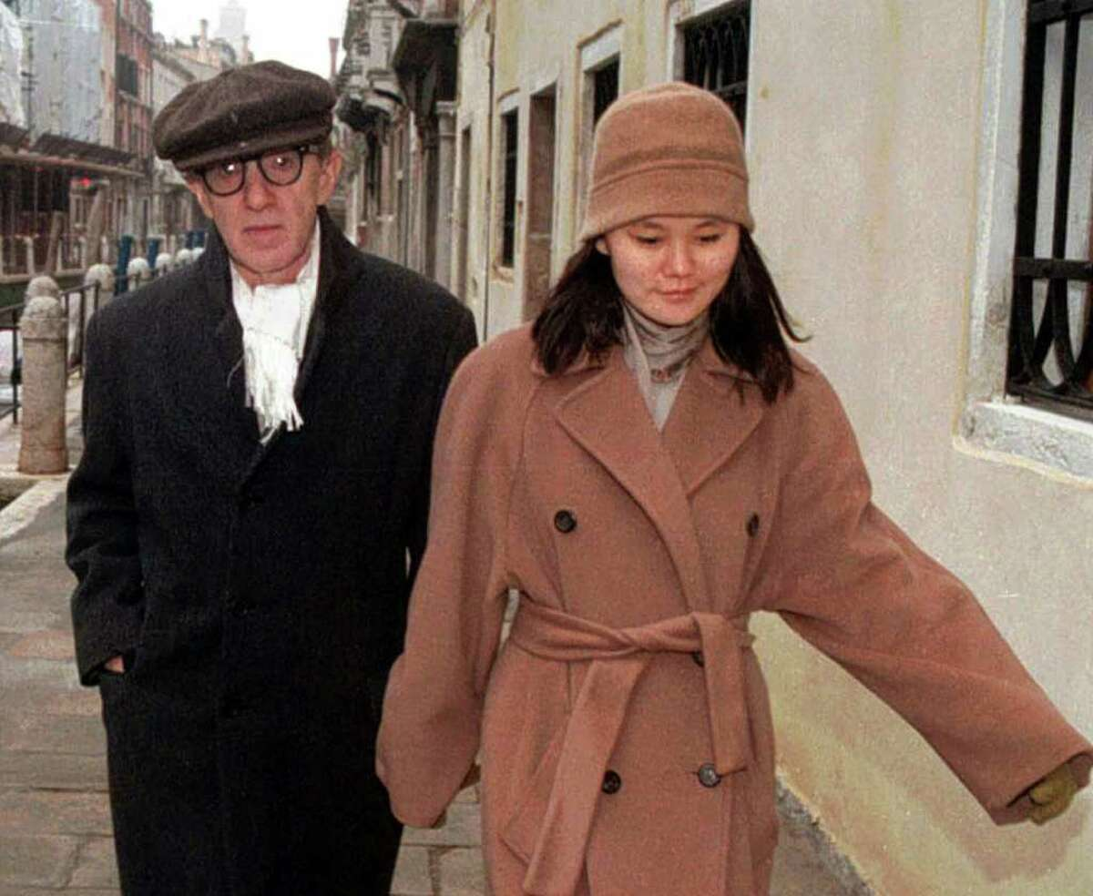 Woody Allen and Soon-Yi Previn made world news when he and the young woman, the adopted daughter of Mia Farrow, had an affair.