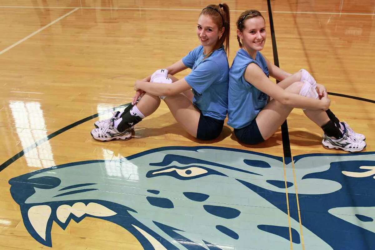 Johnson volleyball players Jessica Teel (left) and Kassie Freitag quickly found common ground this season and have helped the Jaguars reach the Class 5A state tournament, where they will face the Coppell Cowgirls in the semifinals. BY LISA KRANTZ/lkrantz@express-news.net