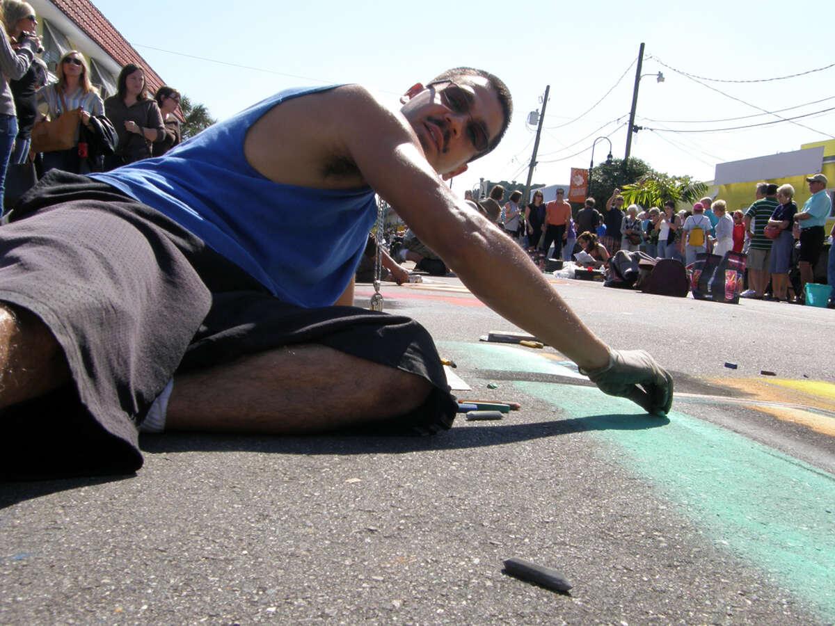 GROUNDWORK: Julio Jiminez, a 2011 Via Colori featured artist, also took part in the Sarasota, Fla., festival.