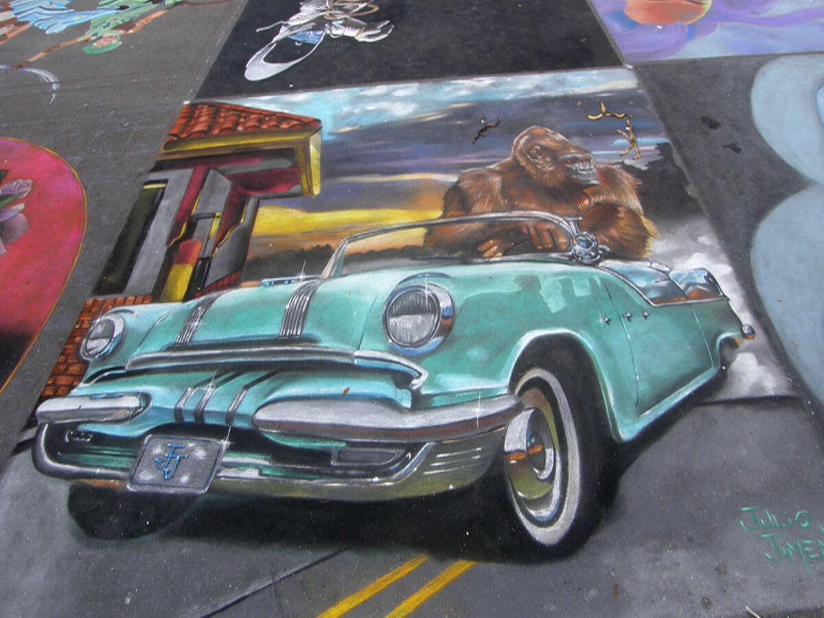 Chalk painting by Via Colori featured artist, Julio Jiminez