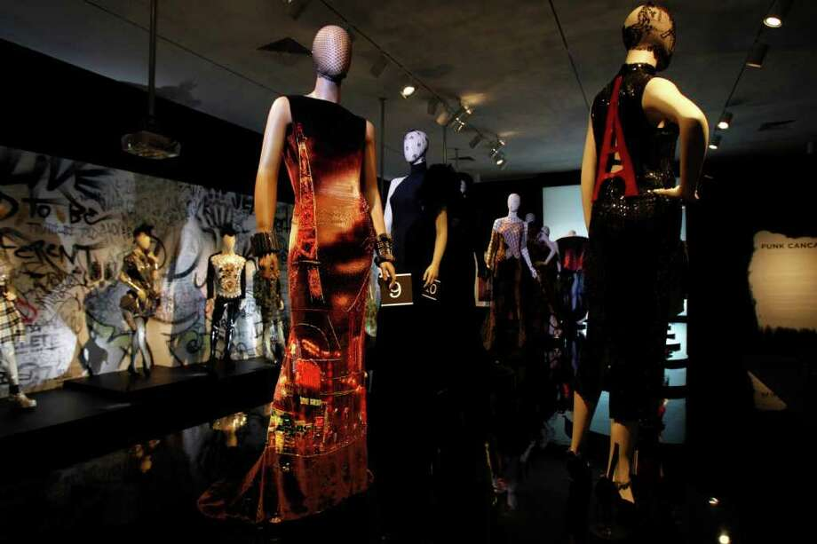Mike Stone PUNK CANCAN: Part of the Jean Paul Gaultier exhibit explores the influence of Paris' Pigalle district and London's Trafalgar Square on his aesthetic. Photo: Mike Stone