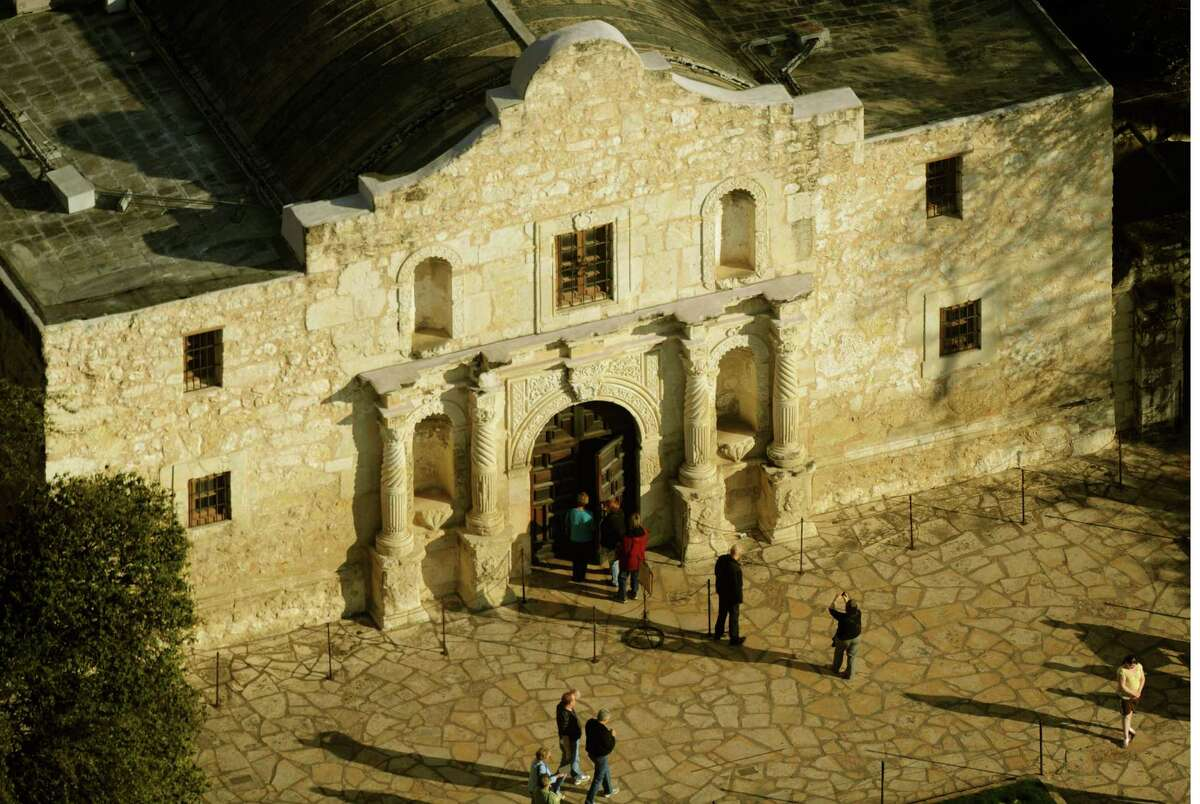 The Alamo shrine in San Antonio, Texas, Jan. 19, 2011. A decision on the use of the Alamo as a trademark was reached by the state's General Land Office and the Daughters of the Republic of Texas earlier this month. The trademark willl be owned by the state. BILLY CALZADA / gcalzada@express-news.net