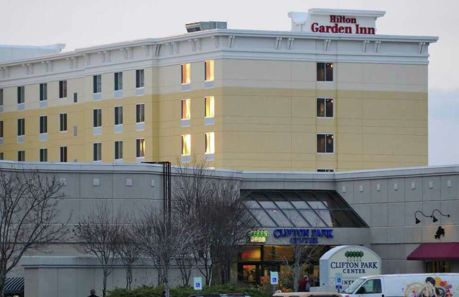 View of the nearly completed Hilton Garden Inn at the Clifton Park Center on Thursday Nov. 16, 2011 in Clifton Park, NY. (Philip Kamrass / Times Union ) Photo: Philip Kamrass / 00015459A