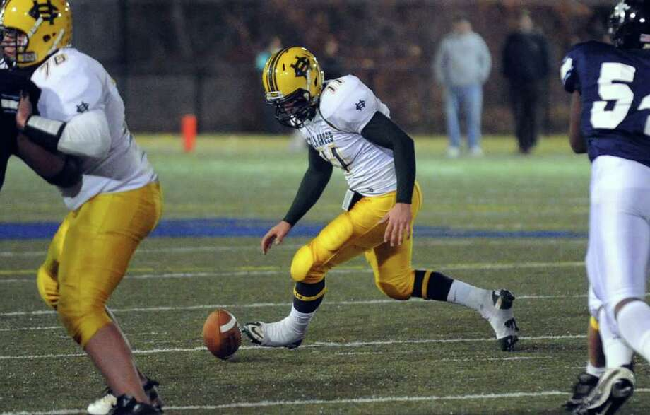 Highlights from NVL Chapionship football action between Holy Cross and Ansonia in Waterbury, Conn. on Thursday November 17, 2011. Photo: Christian Abraham / Connecticut Post
