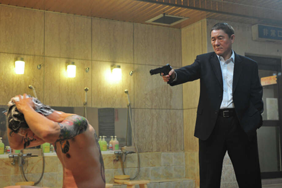 "Beat Takeshi as Otomo in ""Outrage."""