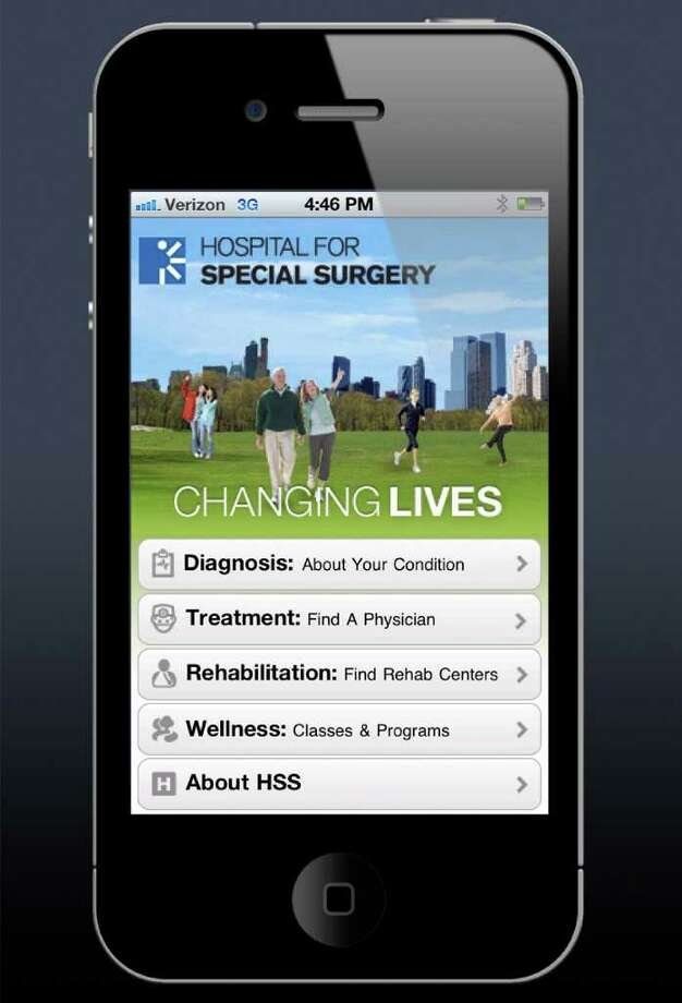 Hospital for Special Surgery, which has an affiliated physicians office in Greenwich, has received an award for its free mobile app. Photo: Contributed Photo