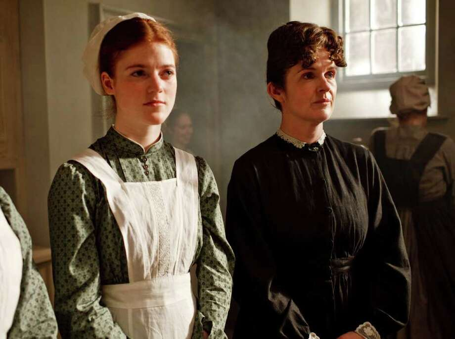 pbs unanswered questions: Rose Leslie, left, and Siobhan Finneran return in the PBS drama Downton Abbey. Photo: Anonymous / AP2010