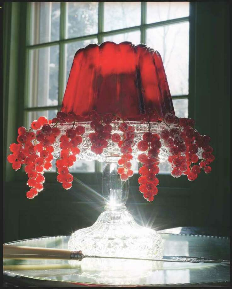 FREDERIC LAGRANGE SPARKLER: A glass cake stand also works as a gorgeous display for a holiday gelatin. Photo: Frederic Lagrange