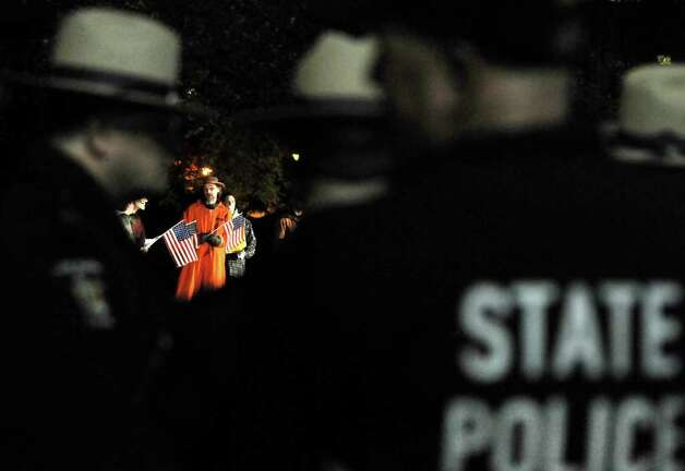 State troopers prepare to arrest Occupy Albany protesters when they break the 11 p.m. curfew on Thursday, Nov. 17, 2011, at Lafayette Park in Albany, N.Y. (Cindy Schultz / Times Union) Photo: Cindy Schultz