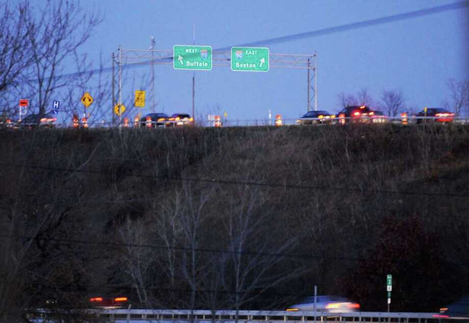 The ramp from 787 northbound to Interstate 90 westbound  in Albany, NY Friday, Nov.18, 2011. ( Michael P. Farrell/Times Union) Photo: Michael P. Farrell