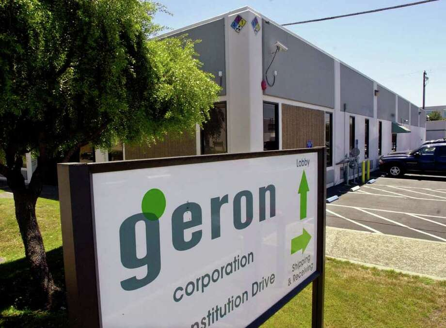 Paul Sakuma : Associated Press File COULDN'T WAIT: Menlo Park, Calif.-based Geron has long been considered the leader in stem cell therapies. Geron hopes another company will step up to continue the work. Photo: PAUL SAKUMA / AP2001