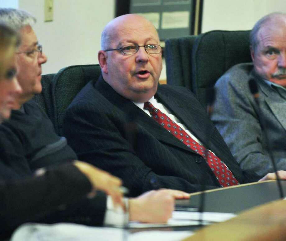 Waterford Supervisor John Lawler, center, during a Saratoga Board of Supervisors' budget workshop session in Ballston Spa Friday Nov. 18, 2011. He stepped down from the board of Saratoga County Prosperity Partnership on Thursday. (John Carl D'Annibale / Times Union) Photo: John Carl D'Annibale / 00015469A