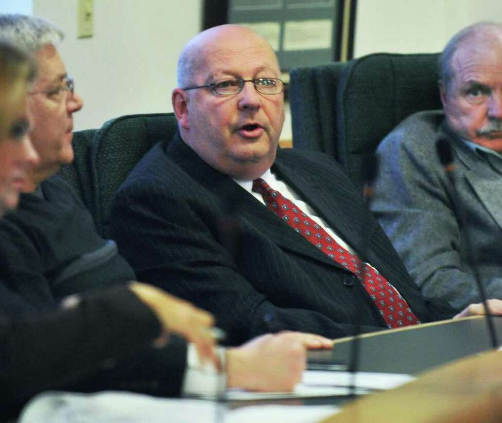 Waterford Supervisor John Lawler, center, during a Saratoga Board of Supervisors' budget workshop session in Ballston Spa Friday Nov. 18, 2011. He stepped down from the board of Saratoga County Prosperity Partnership on Thursday. (John Carl D'Annibale / Times Union)