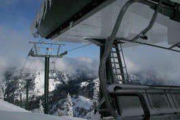 The Green Valley chairlift at Crystal Mountain Resort is seen on Nov. 15, 2011.