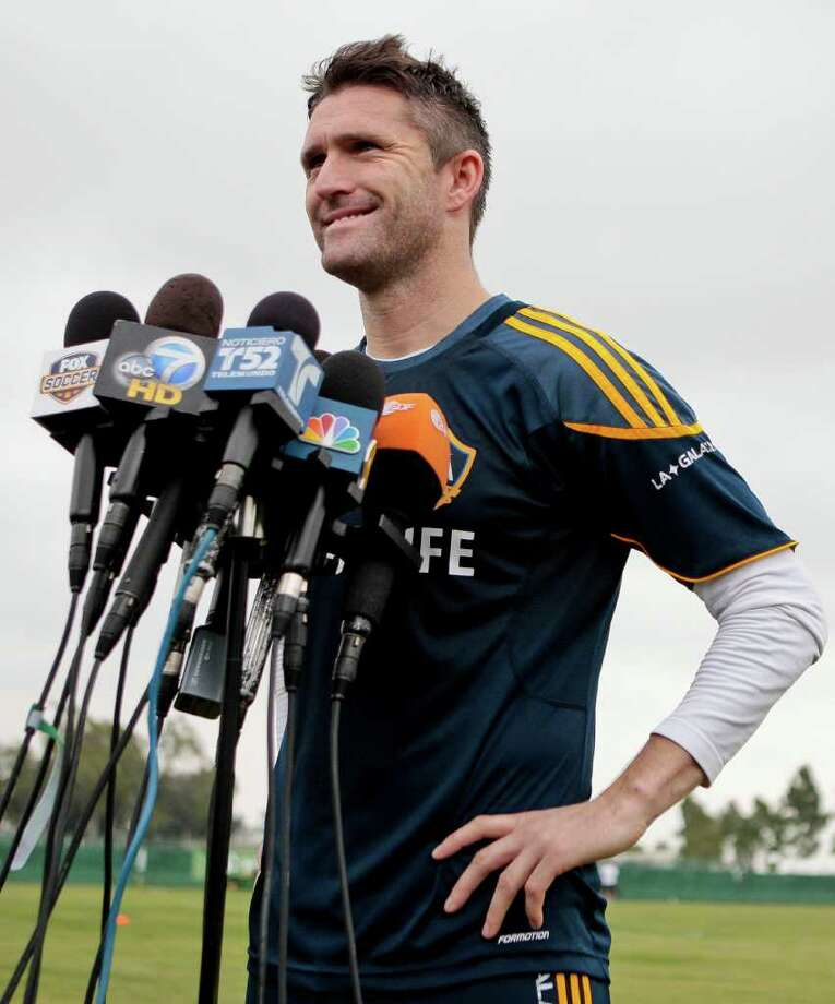 BRET HARTMAN: ASSOCIATED PRESS MEDIA DARLING: Forward Robbie Keane and the Galaxy have been the focus as the MLS Cup final approaches. Photo: Bret Hartman / FR139655 AP