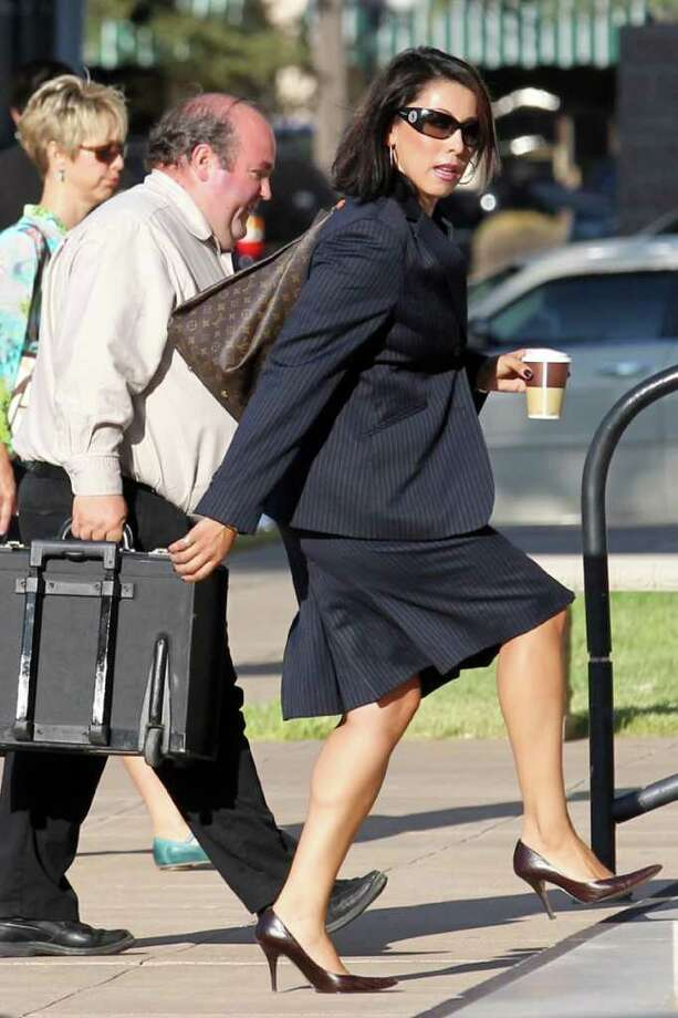 Emily Munoz Detoto, a former prosecutor, was arrested in Houston on June 20. Photo: Patrick Dove / San Angelo Standard-Times