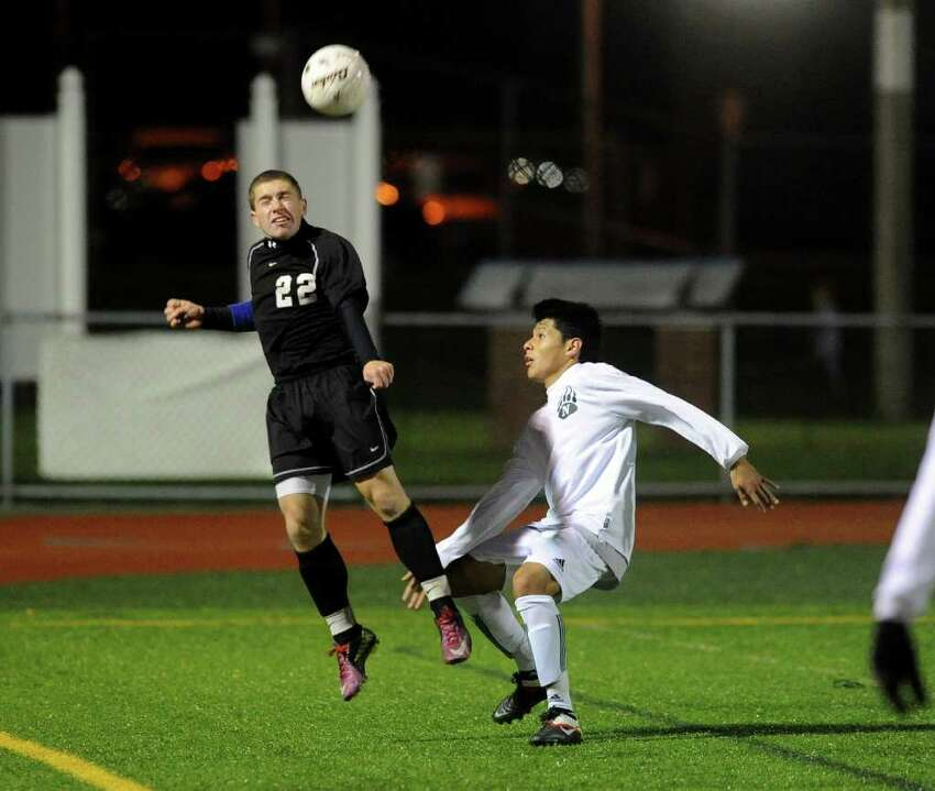 Highlights from CIAC Boys Soccer State Tournament Class LL Semifinal action between Norwalk and Trumbull in Waterbury, Conn. on Saturday November 19, 2011. Norwalk lost to Trumbull 3-1.