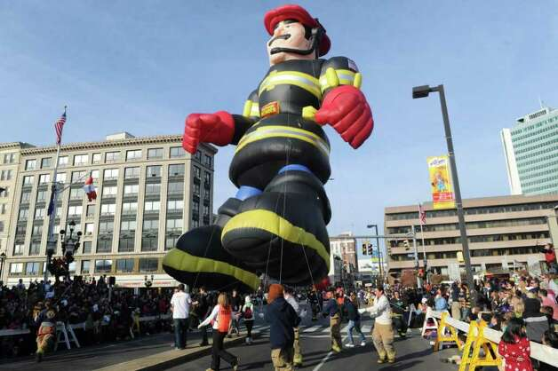 The UBS Parade Spectacular welcomed tens of thousands to downtown Stamford Sunday, November 20, 2011. The most welcome guest, though, was t