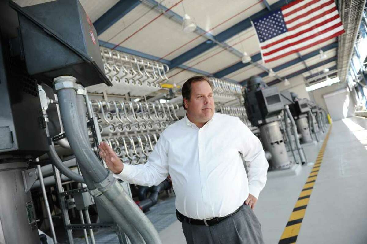 John Balliew of El Paso Water Utilities stands in the Kay Bailey Hutchison Desalination Plant. Drought and population growth have made desalination more acceptable as a way to help meet Texas' demand for water.