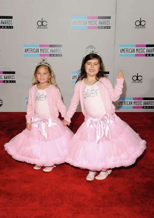 LOS ANGELES, CA - NOVEMBER 20:  YouTube stars Sophia Grace Brownlee and Rosie Brownlie arrive at the 2011 American Music Awards held at Nokia Theatre L.A. LIVE on November 20, 2011 in Los Angeles, California. Photo: Jason Merritt, Getty Images / 2011 Getty Images