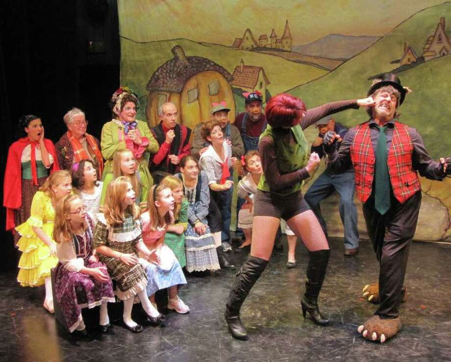 The cast looks on during the Billy and Big Bad Wolf fight. Photo: Contributed Photo