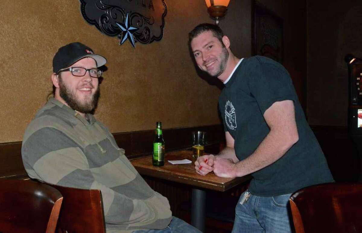 David Talbott (left) and his buddy Jason Cobb get their trivia on at Stone Street Pub on November 16, 2011. Robin Johnson