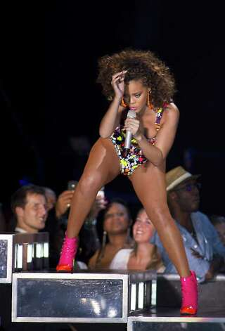 Rihanna isn't afraid to get raunchy in either her live performances or her music. Photo: Paul Bergen, Getty Images / AFP