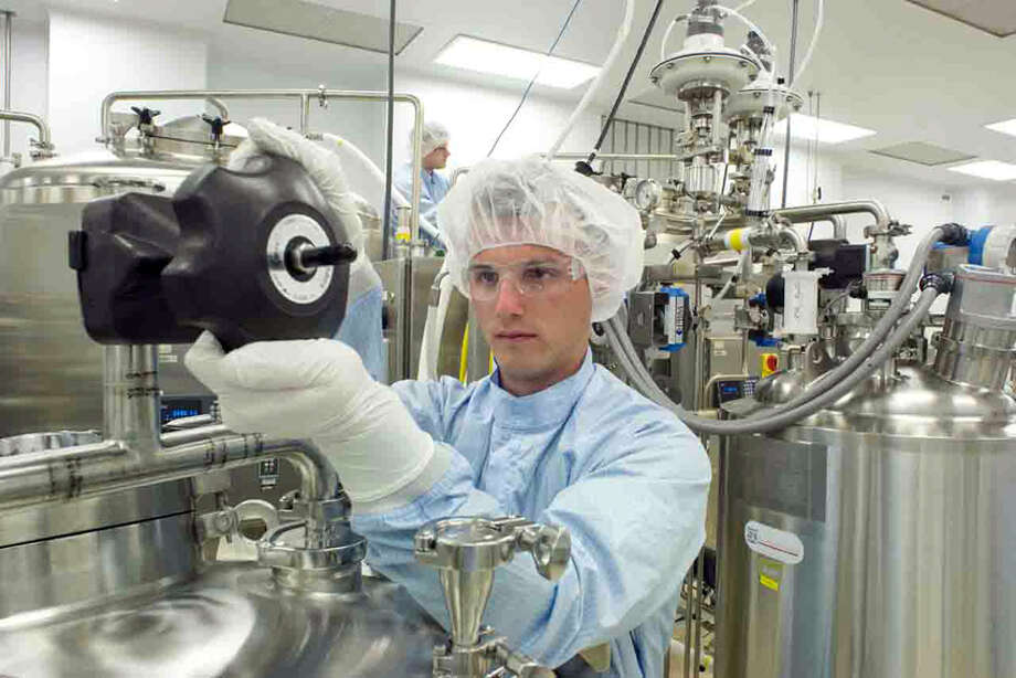 Regeneron does all of its manufacturing in East Greenbush, including the blindness drug Eylea.  Photo courtesy Regeneron