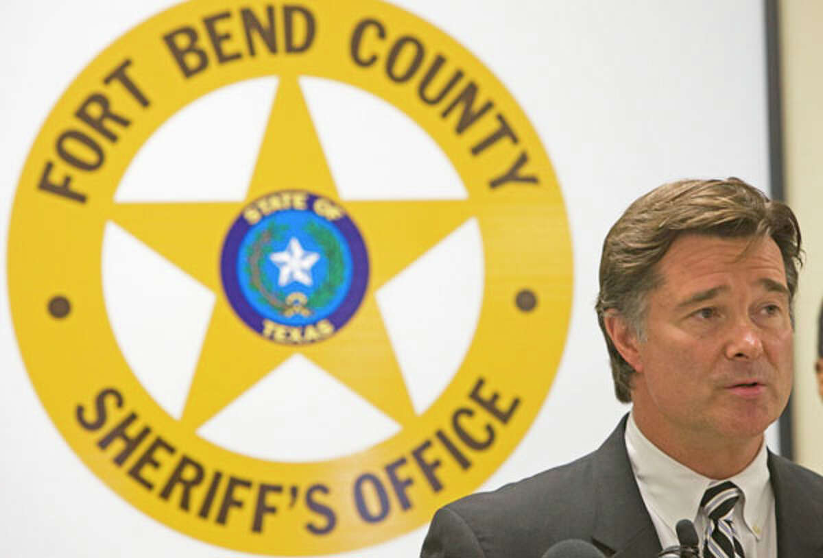 Fort Bend County District Attorney John Healey speaks during a news conference announcing the results of a large drug bust involving steroids Wednesday, May 27, 2009, in Rosenberg. Several suspects were taken into custody in what was dubbed the largest narcotics investigation in the history of Fort Bend County. The operation called