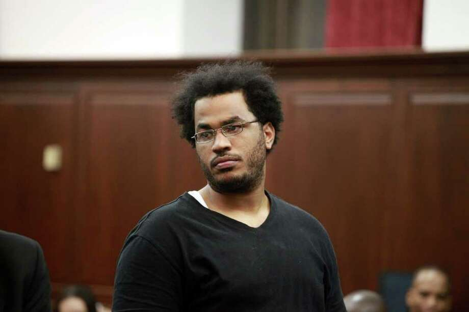 NEW YORK - NOVEMBER 20:  Jose Pimentel, aka Muhammad Yusuf, appears in Manhattan Criminal Court on November 25, 2011 in New York City. Pimentel, 27, who is accused of a plot to build and set off bombs in New York City. According to reports , he had planned to detonate bombs at U.S. post offices, police stations and to attack U.S. military personnel returning from Iraq and Afghanistan (Photo by Jefferson Siegel-Pool/Getty Images) Photo: Pool