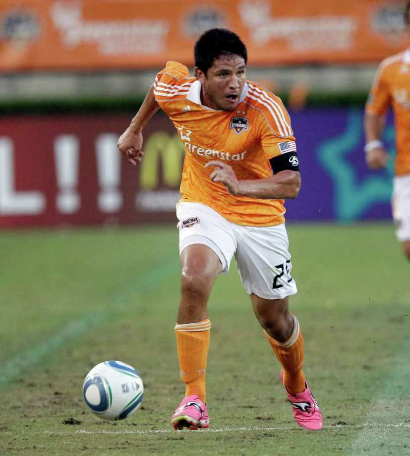 BOB LEVEY: GETTY IMAGES GAMBLE: The Dynamo made Brian Ching available for the expansion draft, hoping he's too expensive for the new team. Photo: Bob Levey / 2011 Getty Images