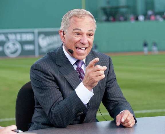 Bobby Valentine hosts MLB Opening night New York Yankees at Boston Redsox on ESPN's Baseball Tonight from the field at Fenway Park in 2010. (photo via ESPN) Photo: Contributed Photo / Stamford Advocate Contributed