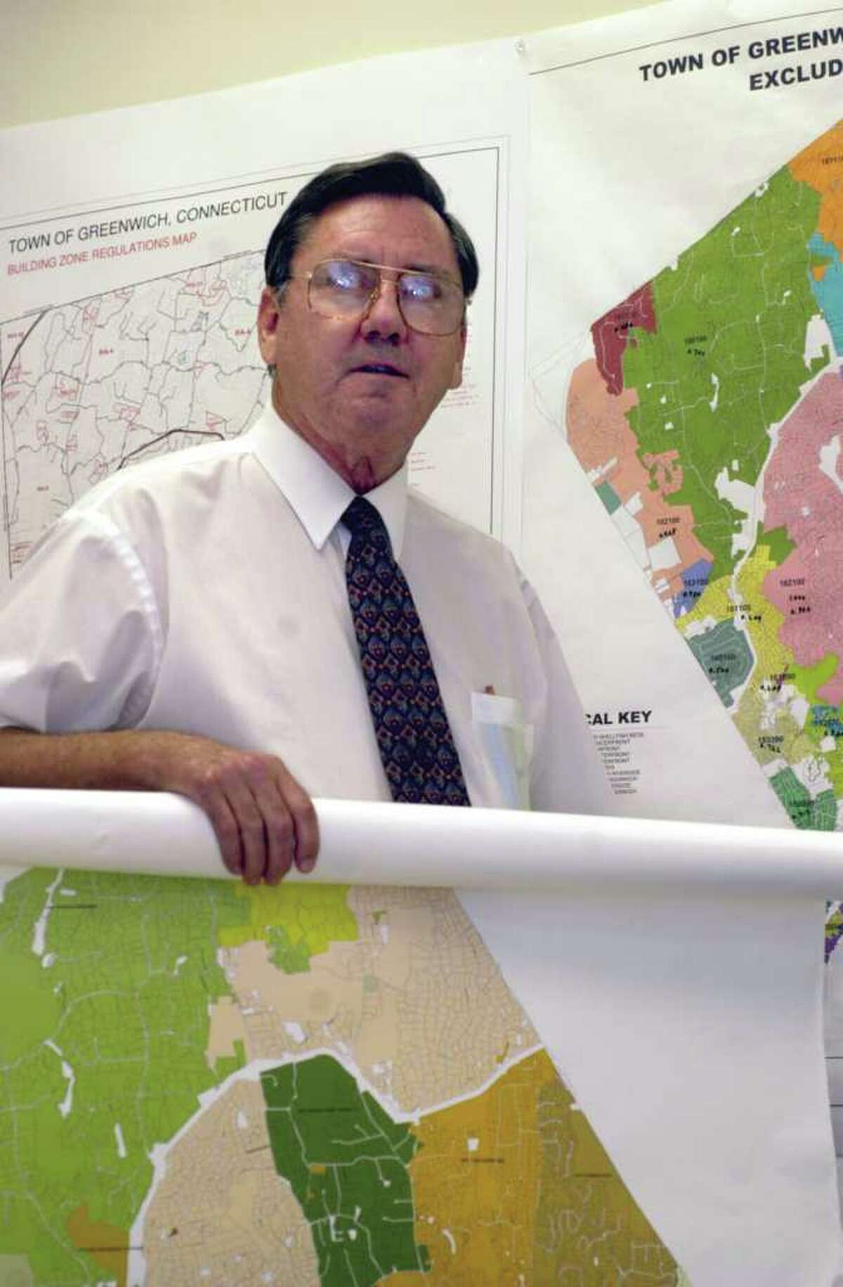 Ted Gwartney, shown here in 2005, has been Greenwich's assessor for the past nine years. Gwartney will retire Feb. 1, 2012, he announced Tuesday, Nov. 22, 2011.