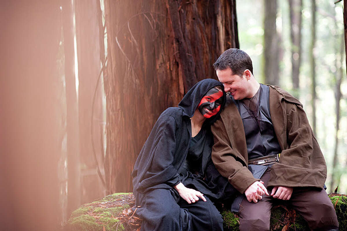 Is the couple planning a Star Wars-themed wedding as well? Photographer Michael James told us,