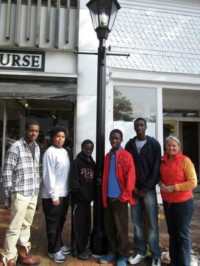 From left, Chris Andrews, Myles Henderson, Osaze Wilson, Kwaku Gyasi and Devaun Bovell with Tucker Murphy. Photo: Contributed Photo