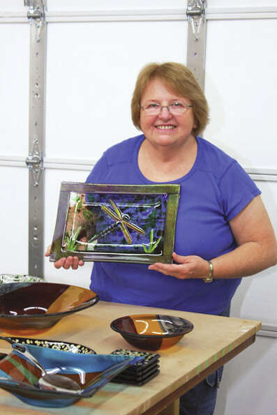 Glass artist Cheryl Gutmaker of The Lady's