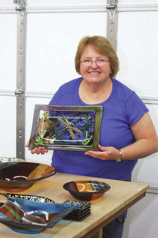 Glass artist Cheryl Gutmaker of The Lady's Got Glass fashions unique handmade pieces, both functional and whimsical, using a variety of glass-working techniques. Read the story here Photos by Krishna Hill/Life@Home.