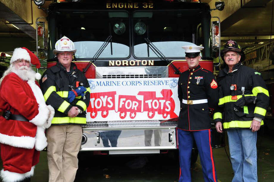Noroton Fire Department is collecting Toys for Tots. Photo: Contributed Photo