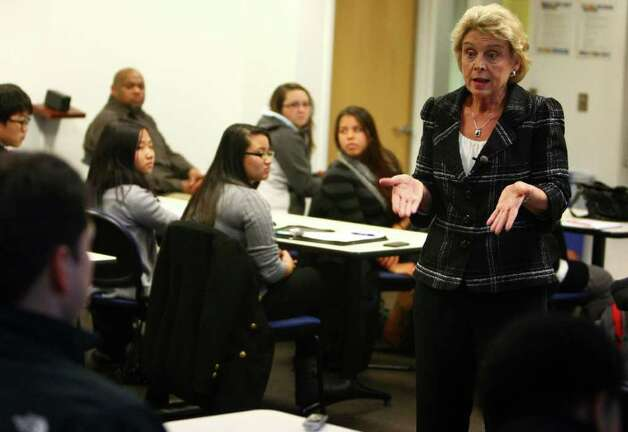 Washington State Governor Chris Gregoire speaks to students on Tuesday, November 22, 2010 at South Seattle Community College about a proposed 1/2 cent sales tax increase and the future of the Washington State economy. The governor said the last time the state raised sales tax was in 1983. Photo: JOSHUA TRUJILLO / SEATTLEPI.COM