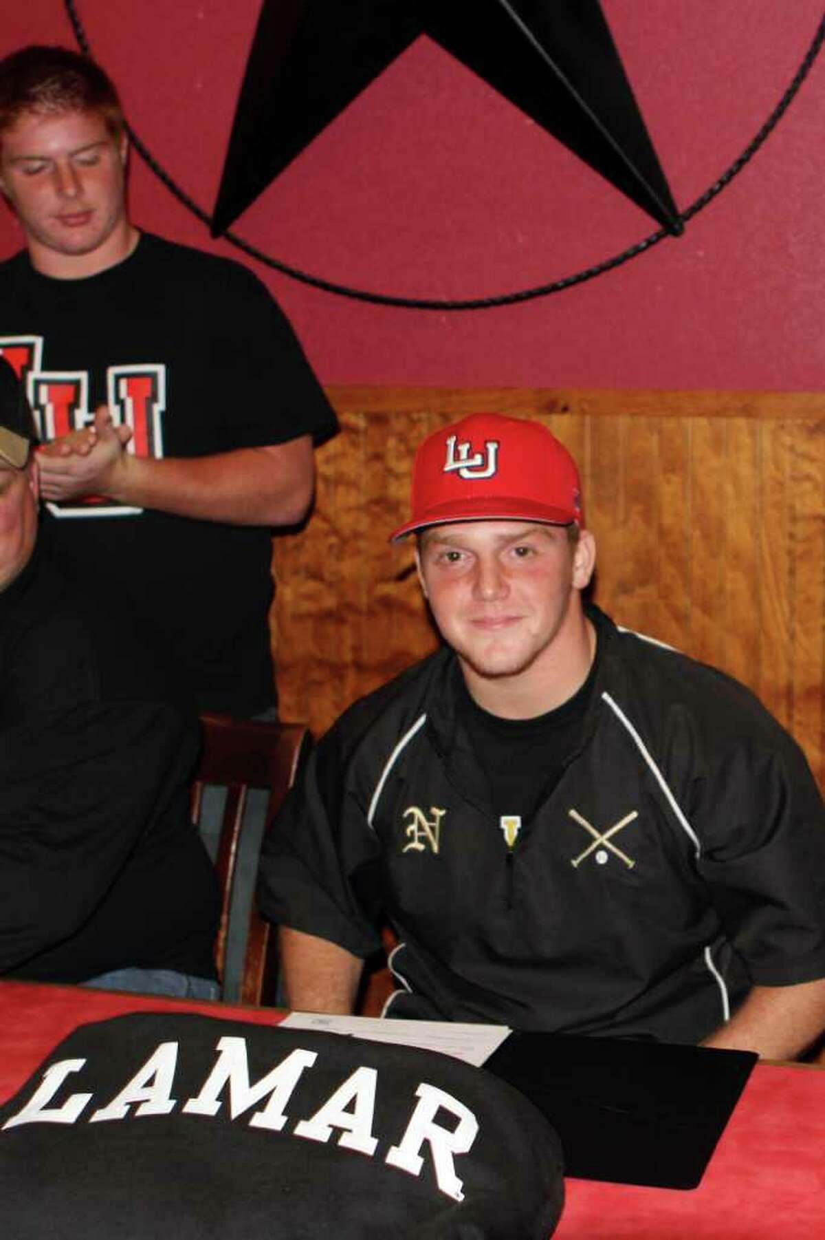 Nederland baseball player Brett Brown is signed to play for Lamar University.