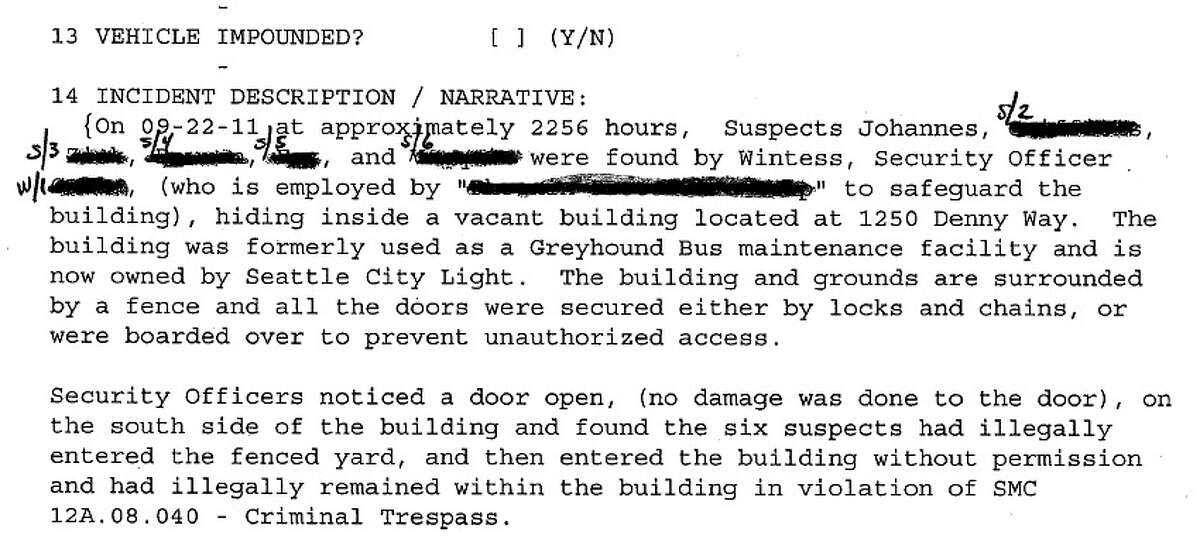 A portion of the Sept. 23, 2011, police incident report in which Jennifer Fox claimed she was three months pregnant, according to officers. She also made that claim to a seattlepi.com photographer at a Nov. 15 Occupy Seattle rally. Her claims have been questioned after Fox blamed Seattle police force for a miscarriage. (Seattle Police Department report)