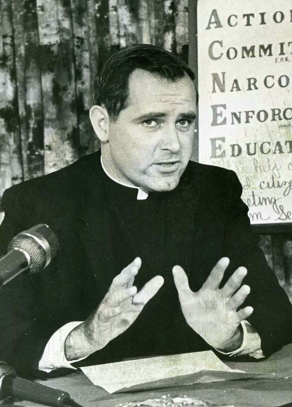 Rev. Alan Jupin of St. Thomas Catholic Church in Delmar, Nov. 2, 1968. Jupin was cleared by the diocese Tuesday of allegations he raped an altar boy in the late 1980s. (Times Union archive)