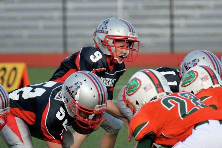 Generasl Bantam quarterback George Hadley calls signals. Photo: Contributed Photo
